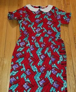 African Print Wekesa Midi Dress Fits size 16-18